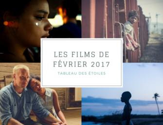 LES FILMS DE FÉVRIER 2017