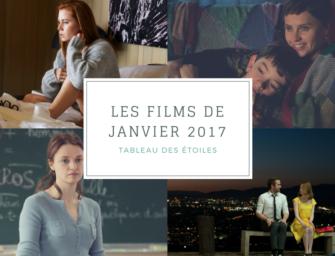 LES FILMS DE JANVIER 2017