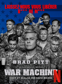 war machine brad pitt affiche